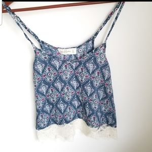 Abercrombie & Fitch Boho Lace Cropped Tank XS